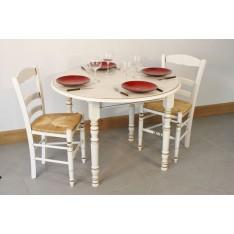 Table GRISELLES DIAM 105cm + 4 Chaises (CHOCOLAT)