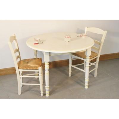 Table GRISELLES DIAM 105cm 4 Chaises CHOCOLAT