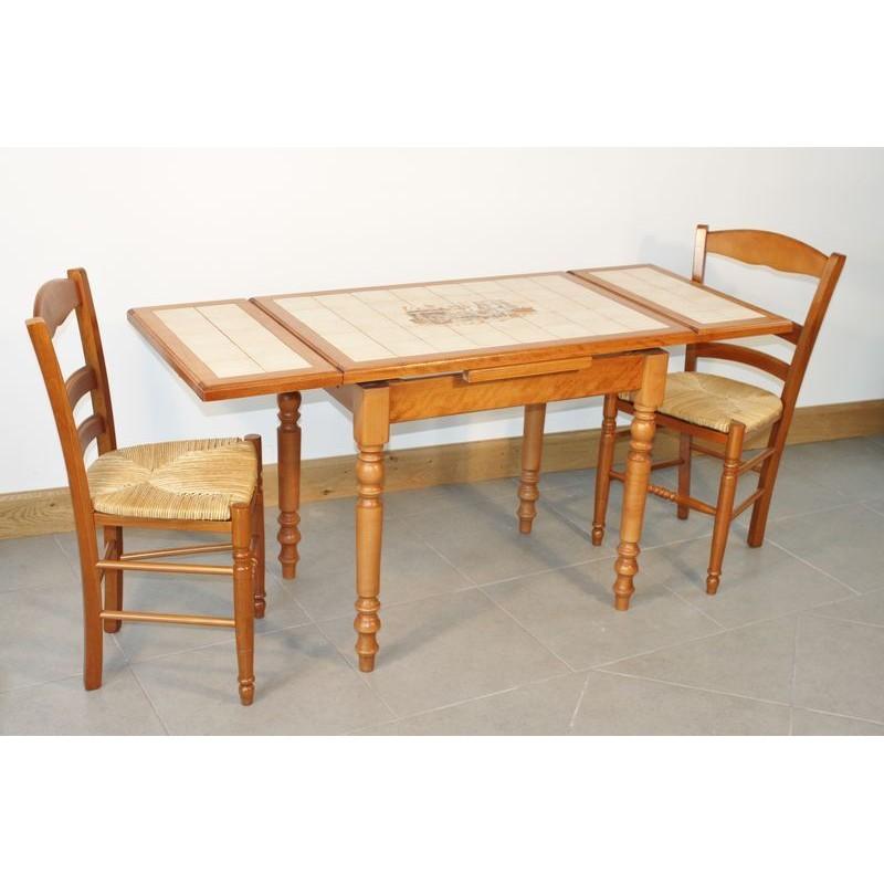 ensemble table cuisine bois rustique 4 chaises paill es for meuble 90x60