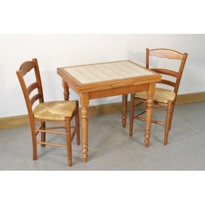 Table P'TITE VILLERS 80X60 + 4 Chaises (LEGENDAIRE)