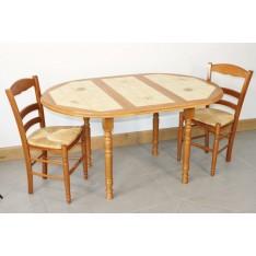 Table MAREY DIAM 105+ 4 Chaises (LEGENDAIRE)
