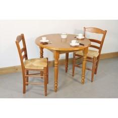 Table VOULAINES DIAM 90 + 4 Chaises (LEGENDAIRE)