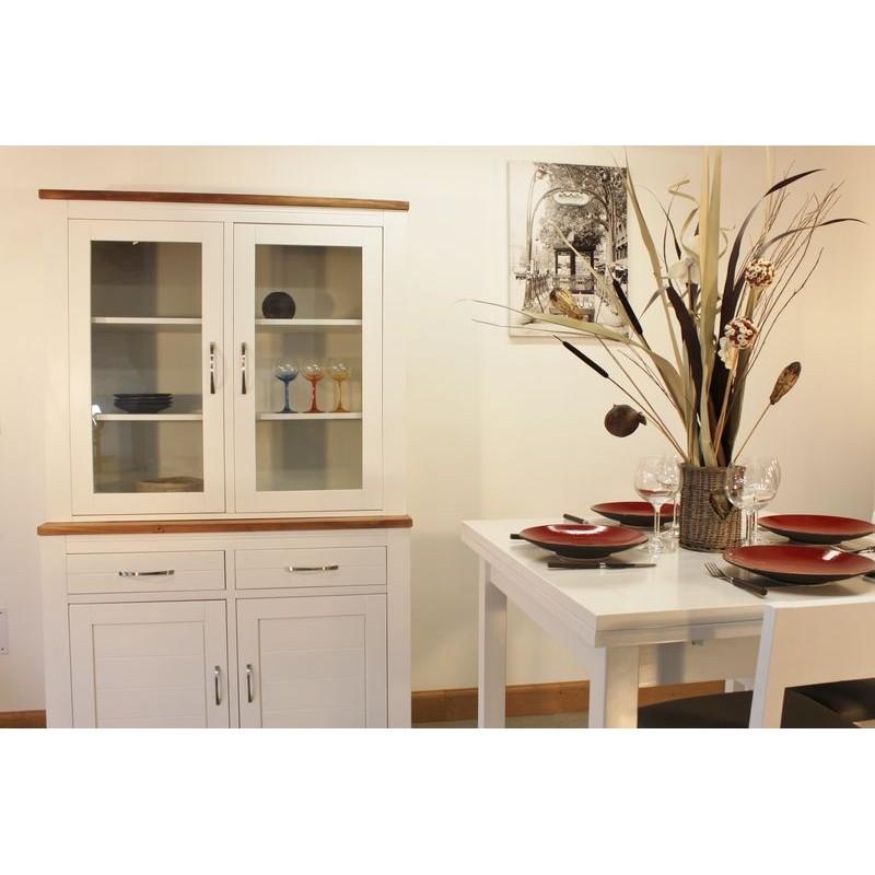 vaisselier table haute 4 tabourets fintion laqu e blanche. Black Bedroom Furniture Sets. Home Design Ideas