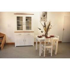 Vitrine +Table carrée 90x90 + 4 Chaises (ALTHEA)