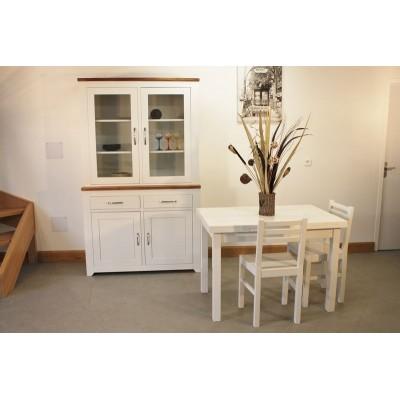 Vitrine +Table rectangulaire 110x70 + 4 Chaises (ALTHEA)