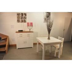 Meuble bas 2P2T +Table carrée 90x90 + 4 Chaises (ALTHEA)