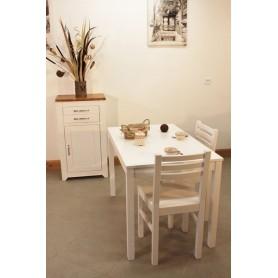 Confiturier + Table rectangulaire fixe 110x70 + 4 Chaises (ALTHEA)