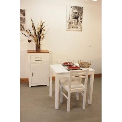 Confiturier + Table rectangulaire fixe 80x60 + 2 Chaises (ALTHEA)