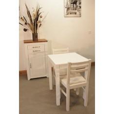 Confiturier + Table carrée fixe 60x60 + 2 Chaises (ALTHEA)