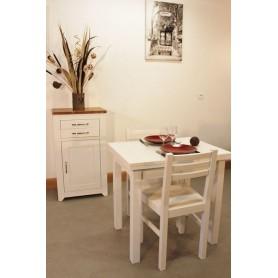 Confiturier + Table rectangulaire 80x60 allonges + 2 Chaises (ALTHEA)