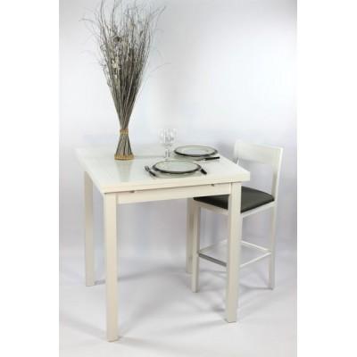 """Ensemble """"ALTHEA"""" : Table Carrée haute90x90 + 4 tabourets"""