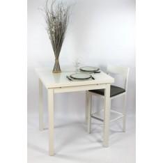 Table Carrée Haute 90 X 90 + 4 Tabourets Hauts (ALTHEA)
