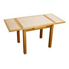 """Table AZALEE CARAMEL 90 X 70 """"Mosaïque"""""""