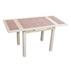"Table AZALEE BLANCHE 90 X 70 ""Mosaïque"""