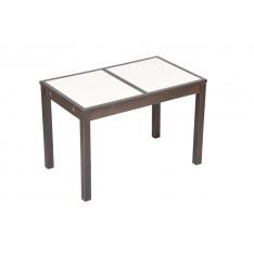 """Table HIBISCUS NOIRE 112 X 67 """"Mosaïque"""""""