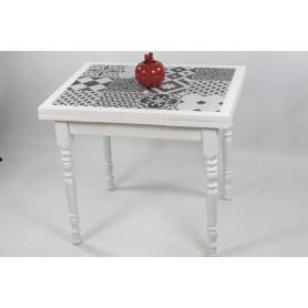 """Table CLEONICE 90 X 70 """"carreaux de ciment"""""""