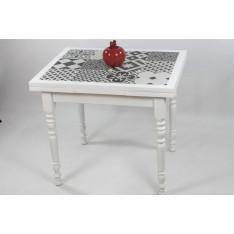 """Table CLEONICE   90 X 70 """"Carreaux ciment"""""""