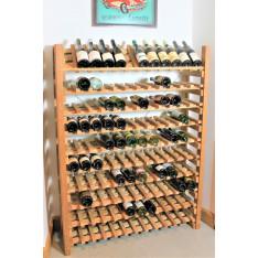 """CASIER A VIN EN CHENE MASSIF Modèle """"Présentation""""-120 bouteilles-"""