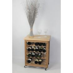 """CASIER A VIN / DESSERTE EN CHENE MASSIF - Modèle """"Dégustation""""-20 bouteilles-"""
