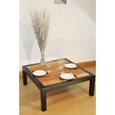 """Table Basse  """"L'ARTISANALE"""" Noire"""