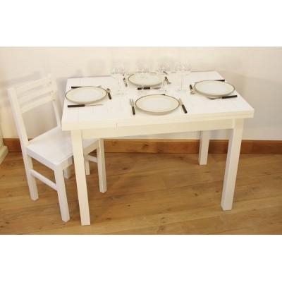 """Ensemble """"ALTHEA"""" : Table rectangulaire 110x70 + 4 chaises"""