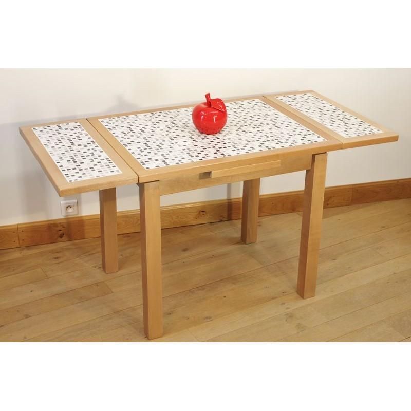 Ensemble table cuisine carrel e mosa que 4 chaises for Table chaise bois