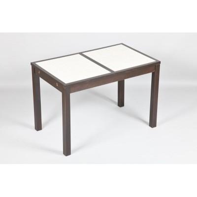 Ensemble table cuisine carrelée céramique + 4 chaises laquées blanche
