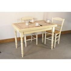 Table MENESBLES 110X70 + 4 Chaises (VANILLE)
